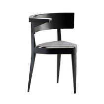 Sedia moderna / con braccioli / 3 piedi / in legno laccato