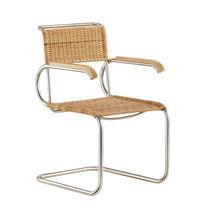Sedia design Bauhaus / in tessuto / in pelle / in acciaio