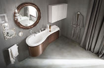 Mobile lavabo in ceramica / moderno / in kit