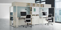 Scrivania per open space / in alluminio / in melamminico / moderna