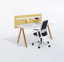 Tavolo da lavoro moderno / in quercia / in acciaio / rettangolare