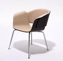 Sedia visitatore moderna / con braccioli / imbottita / girevole
