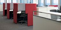 Divisorio per ufficio a pavimento / in tessuto / insonorizzato