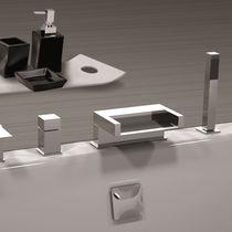 Miscelatore per vasca / in metallo cromato / in ottone cromato / termostatico