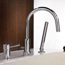 Miscelatore da doccia / per vasca / in metallo cromato / in ottone cromato