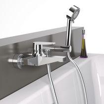 Miscelatore per vasca / da doccia / da parete / in metallo cromato