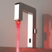 Miscelatore per lavabo / in metallo cromato / in ottone cromato / elettronico