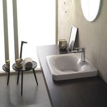 Lavabo da incasso / rettangolare / in ceramica / moderno