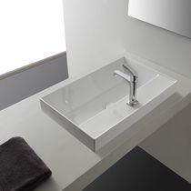 Lavabo da incasso / rettangolare / moderno
