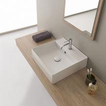 Lavabo da appoggio / quadrato / moderno