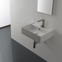 Lavabo sospeso / rettangolare / moderno