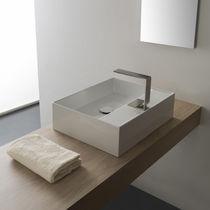 Lavabo da appoggio / rettangolare / moderno