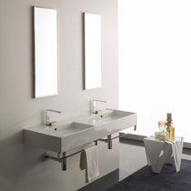 Lavabo doppio / sospeso / rettangolare / moderno