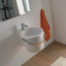 Lavabo sospeso / rotondo / in ceramica / moderno