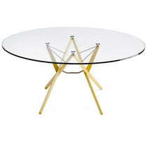 Tavolo moderno / in quercia / in wengé / in vetro