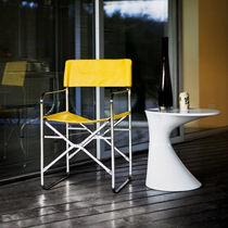 Sedia moderna / a slitta / pieghevole / con rivestimento rimovibile