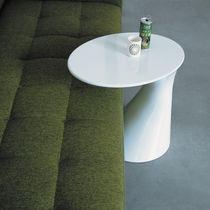 Tavolo d'appoggio moderno / in polipropilene / rotondo / bianco