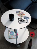 Tavolo d'appoggio moderno / in alluminio / in acciaio verniciato / in laminato