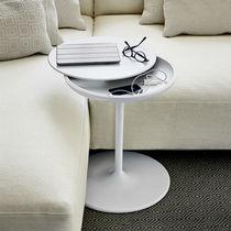 Tavolino moderno / in alluminio / in poliuretano / rotondo