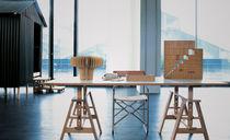 Tavolo da lavoro moderno / in faggio / in vetro temprato / in laminato