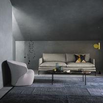 Tavolino basso moderno / in acciaio / in marmo / ovale
