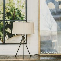 Lampada da tavolo / moderna / in metallo / in tessuto