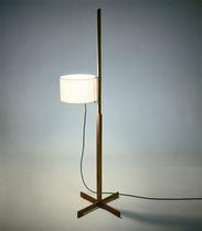 Lampada con piede / moderna / in legno massiccio / in plastica