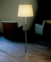 Lampada con piede / moderna / in metallo / in tessuto