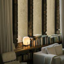 Lampada da tavolo / moderna / in acciaio inossidabile / in vetro opalescente