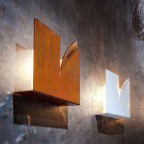 Applique design originale / in metallo / quadrata
