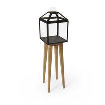 Vetrina moderna / a piede alto / in quercia / in vetro