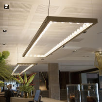 Luce a sospensione / LED / quadrata / rettangolare