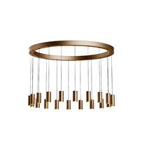 Plafoniera moderna / rotonda / in alluminio anodizzato / LED