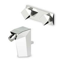 Miscelatore doppio comando per bidet / da incasso / da bancone / in metallo cromato