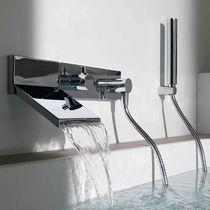 Miscelatore da doccia / per vasca / da incasso / in metallo cromato