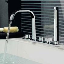 Miscelatore doppio comando per vasca / da bancone / in metallo cromato / in ottone