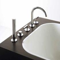 Miscelatore doppio comando da doccia / per vasca / da bancone / in metallo cromato