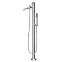 Miscelatore da doccia / per vasca / a pavimento / in metallo cromato