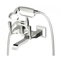 Miscelatore doppio comando da doccia / per vasca / da parete / in metallo cromato