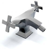 Miscelatore doppio comando per bidet / da appoggio / in metallo cromato / da bagno