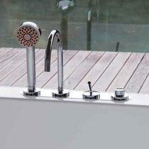 Miscelatore per vasca / da bancone / in metallo cromato / da bagno