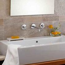 Miscelatore doppio comando per lavabo / da incasso / in metallo cromato / da bagno