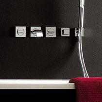 Miscelatore doppio comando da doccia / per vasca / da incasso / in metallo cromato