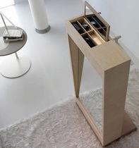 Specchio da terra / con contenitore / moderno / rettangolare
