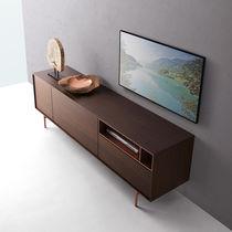 Mobile TV moderno / in metallo / in quercia