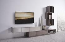 Parete attrezzata TV moderno / in legno laccato / in quercia