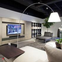 Parete attrezzata TV moderno / in legno laccato / in quercia / modulare