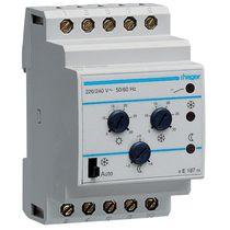 Termostato programmabile / su guida DIN / per aria condizionata / per riscaldamento