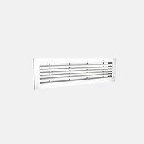 Griglia di ventilazione in alluminio / rettangolare / per il soffiaggio e la ripresa d'aria