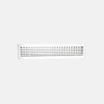 Griglia di ventilazione in alluminio / rettangolare / regolabile / per il soffiaggio e la ripresa d'aria